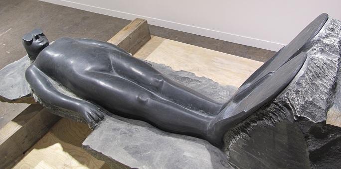 Gisant, 2012, Projet de monument funéraire pour le Cimetière Montparnasse - galerie Loevenbruck,
